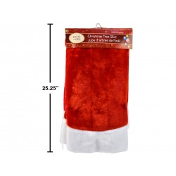 Christmas Deluxe Plush Red Tree Skirt ~ 44""