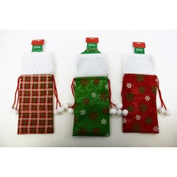 Christmas Bottle Gift Bag ~ Printed with Wine Bags