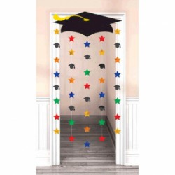 "Graduation Cap Door Decoration ~ 66"" x 39"""