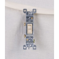 Single Pole Switch ~ Ivory