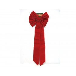 "Christmas Heavy Red Velvet Triple Bow ~ 15"" x 42"""