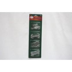 Christmas Ornament Hooks - Silver ~ 300/pk