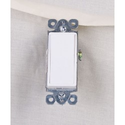 Decorative Single Pole Switch ~ White