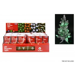 Christmas Batttery Operated LED Deco Lights - 4 assorted colors ~ 10 pieces