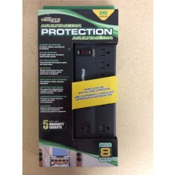 Power Bar w/Surge Protection ~ 8 outlets & 6' cord