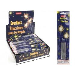 """Sparklers - 8"""" ~ 8 per pack ~ 100 packs per display"""