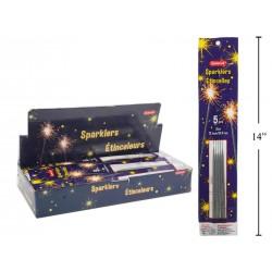 """Sparklers - 12"""" ~ 5 per pack ~ 75 packs per display"""