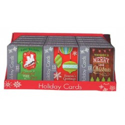 Christmas Boxed Cards w/Foil ~ 12 per pack