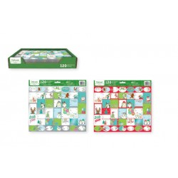 Christmas Juvenille Peel & Stick Gift Tags ~ 120 per pack