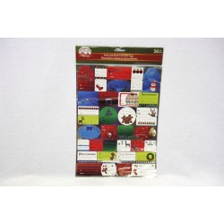 Christmas Foil Peel & Stick Gift Tags ~ 36 per pack