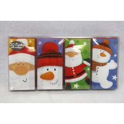 Christmas Boxed Cards with Glitter ~ 20 per pack