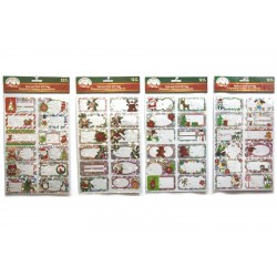 Christmas Laser Peel & Stick Gift Tags ~ 12 per pack