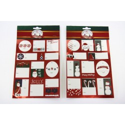 Christmas Foil Peel & Stick Gift Tags ~ 52 per pack