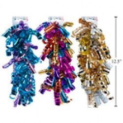 Metallic Multi Colored Thin Curly Ribbons ~ 3/pc