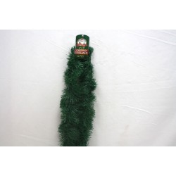 "Christmas Natural Green Garland ~ 4"" x 9' x 6 ply"