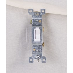 Single Pole Switch ~ White