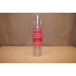 Clear Plastic Wine Glasses - 5.5oz ~ 8 per sleeve