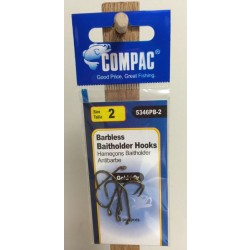 Compac Barbless Baitholder Hooks