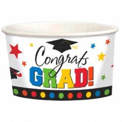 Congrats Grad! Paper Treat Cups - 9oz - 8 per pack