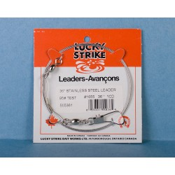 Lucky Strike Stainless Steel High Test Leaders ~ 36""