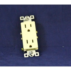 Decorative Duplex Outlet ~ Ivory