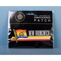 New Brunswick Iron or Sew-On Embroidered Patch