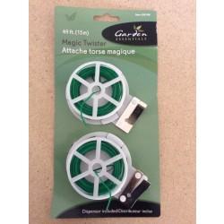 Garden Twist Tie Dispenser w/Cutters - 15M ~ 2 per pack