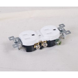 Duplex Outlet ~ White
