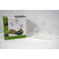 Acrylic Window Bird Feeder with Suction Cups