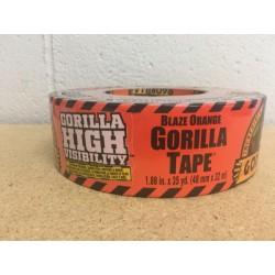 "Gorilla Hi Vis Blaze Orange Tape ~ 1.88"" x 35yds"