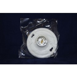 Ceiling Lamp Holder (Plastic) ~ White
