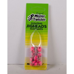 Mister Twister Floating Jig Heads #2 ~ assorted colors