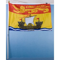 "New Brunswick Flag w/Stick ~ 12"" x 18"""