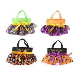 "Halloween Skirt Mini Trick or Treat Bag ~ 14"" x 8.5"""