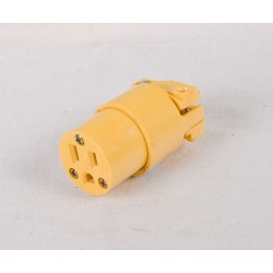 3-Wire Connector w/Clamp ~ Yellow