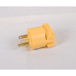 3-Wire Plug w/Cable Clamp ~ Yellow