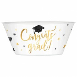 Congrats Grad! Plastic Serving Bowl ~ 120oz