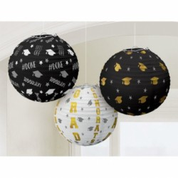 Graduation Paper Lanterns ~ 3 per pack