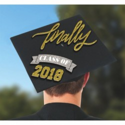 Grad Cap Decorating Kit ~ Finally Class of 2018