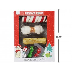 Christmas Pet Rawhide Selection Box