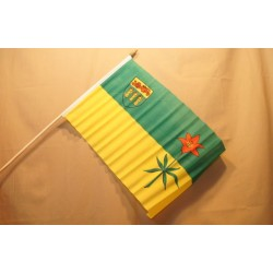 """Saskatchewan Flag w/Stick ~ 12"""" x 18"""""""