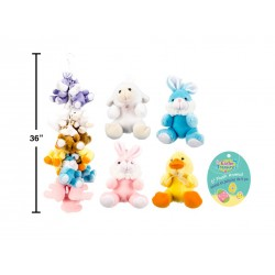 "Easter 6"" Plush Animals w/Bows ~ 4 assorted"