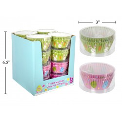 "Easter 3"" Baking Cups - 50 per PVC box ~ 16 boxes per display"