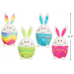 "Easter 11.5"" Plush Bunny Egg ~ 4 assorted"