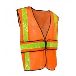 Fluorescent Orange Mesh Safety Vest