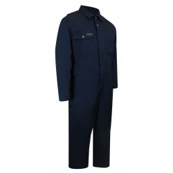 Navy Unlined Coverall w/No Zipper on the Legs