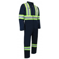 Insulated Navy Coveralls with zipper on the legs
