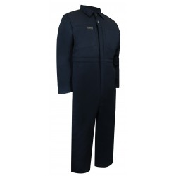 Navy Quilted Coverall w/Zipper on the Legs
