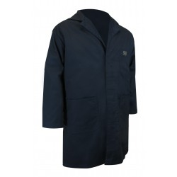 Navy Shop Coat w/Rust Proof Snaps