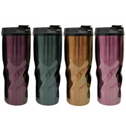 PURE Double Wall Stainless Steel Travel Mug ~ 500ml